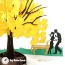 Romantic Park Trip 3D Handmade Pop Up Card #3720