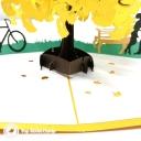 Romantic Park Trip 3D Handmade Pop Up Card #3721