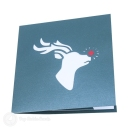 Rudolf The Reindeer In Forest 3D Pop Up Christmas Card #2867