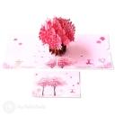 Sakura Japanese Cherry Blossom Handmade 3D Pop Up Card #2933