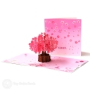 Sakura Japanese Cherry Blossom Handmade 3D Pop Up Card #2943