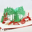 3D Pop-Up Greetings Card #2858
