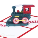 Santa Christmas Train 3D Pop-Up Christmas Card #2868