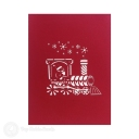 Santa Christmas Train 3D Pop-Up Christmas Card #2873