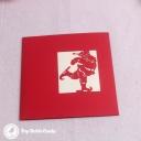 Santa Dances On Ice Skates 3D Pop Up Handmade Card #3503