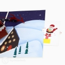 Santa In Chimney 3D Handmade Pop Up Card #3555