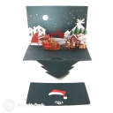 Santa In Christmas Eve Moonlight 3D Pop-Up Christmas Card #2762