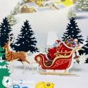 Santa Near Christmas Town 3D Handmade Card #3635