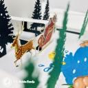 Santa Near Christmas Town 3D Handmade Card #3636