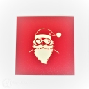 Santa on Motorbike Handmade 3D Pop-Up Christmas Card #2772