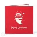 Santa on Motorbike Handmade 3D Pop-Up Christmas Card #2886