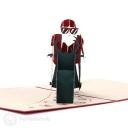 Santa on Motorbike Handmade 3D Pop-Up Christmas Card #2890