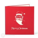 Santa on Motorbike Handmade 3D Pop-Up Christmas Card #3594