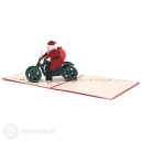 Santa on Motorbike Handmade 3D Pop-Up Christmas Card #3595