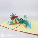 Seaside Beach Holiday 3D Pop Up Card #3262