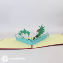 Seaside Beach Holiday 3D Pop Up Card #3265