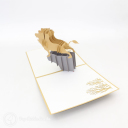 Lion Roaring On Rock 3D Pop Up Card #3060