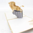Lion Roaring On Rock 3D Pop Up Card #3061
