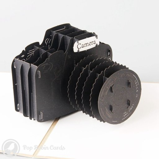 SLR Camera 3D Pop-Up Greetings Card 1369