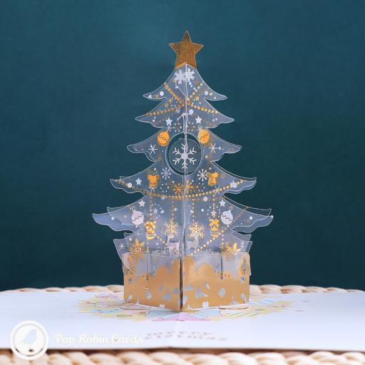 Snowflake Christmas Tree 3D Handmade Pop Up Card