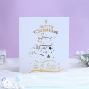 Snowflake Christmas Tree 3D Handmade Pop Up Card #3584