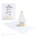Snowflake Christmas Tree 3D Handmade Pop Up Card #3587