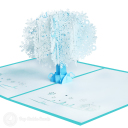Snowflake Tree Handmade 3D Pop Up Card #3486