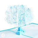 Snowflake Tree Handmade 3D Pop Up Card #3487