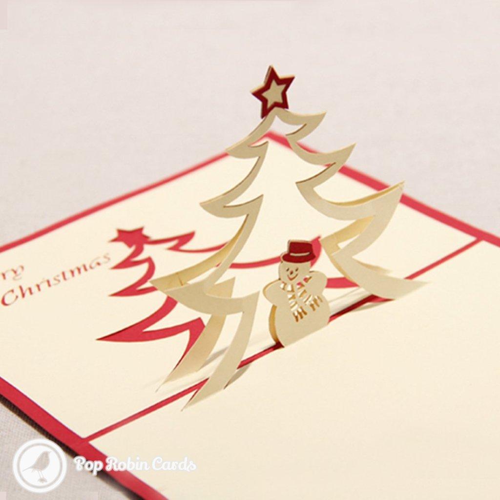 Snowman And Star Handmade 3D Pop-Up Card #2109