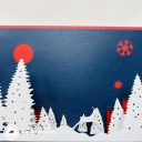 Snowy Forest At Night 3D Handmade Card #3609