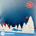 Snowy Forest At Night 3D Handmade Card #3611