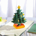Star And Baubles Christmas Tree 3D Pop Up Christmas Card #3436
