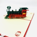 Steam Train With Red Cover 3D Pop Up Card #3684