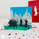 Students Celebrating Graduation 3D Pop Up Card #3862