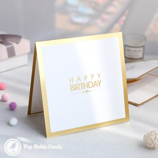 Stylish Birthday Cake 3D Pop Up Card