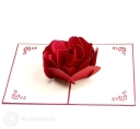 Stylish Red Rose 3D Pop-Up Card #2812