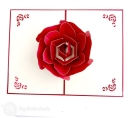 Stylish Red Rose 3D Pop-Up Card #2813