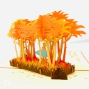 Surfer In Sunset Grove 3D Handmade Pop Up Card #3798