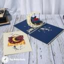 Swing Under Crescent Moon Handmade 3D Card #3337