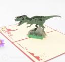 Roaring T-Rex Dinosaur 3D Handmade Pop Up Card #3214