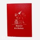 3D Pop-Up Greetings Card #3696