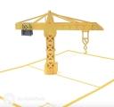 Tall Tower Crane 3D Pop Up Handmade Card #3537