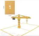 Tall Tower Crane 3D Pop Up Handmade Card #3538