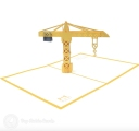 Tall Tower Crane 3D Pop Up Handmade Card #3540