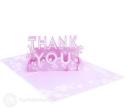 Floral Pink Thank You Handmade 3D Pop Up Card #2973