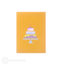 Tiered Birthday Cake 3D Greetings Card #3368
