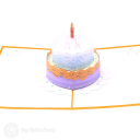 Tiered Birthday Cake 3D Greetings Card #3372