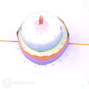 Tiered Birthday Cake 3D Greetings Card #3373
