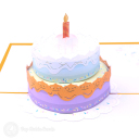 Tiered Birthday Cake 3D Greetings Card #3374