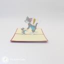 Tom & Jerry Handmade 3D Pop Up Card #3020